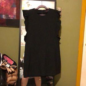 Zara mini dress with ruffle sleeves